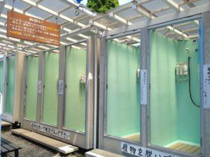 個室温水シャワー室です。 女性専用もあり、安心して使用していただけます。 シャンプー・コンディショナー・ボディソープも完備。(4人まで無料)